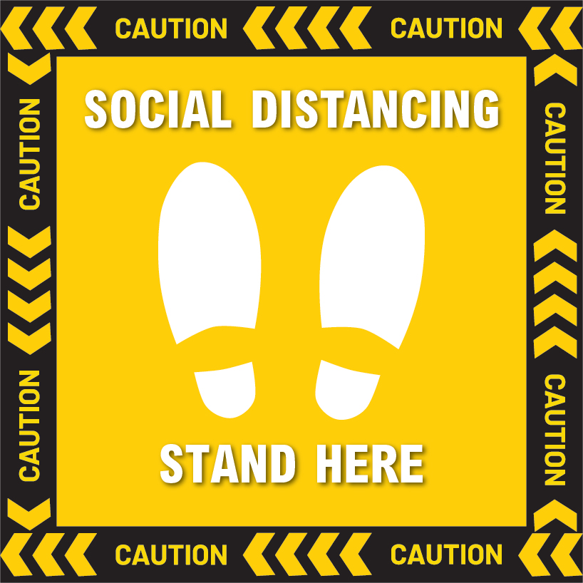 OEM Social Distancing Floor Sign 2