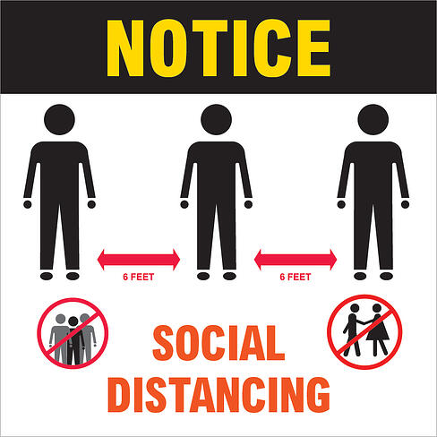 OEM Social Distancing Wall Sign